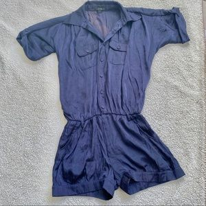 Forever21 blue/purple satin romper S